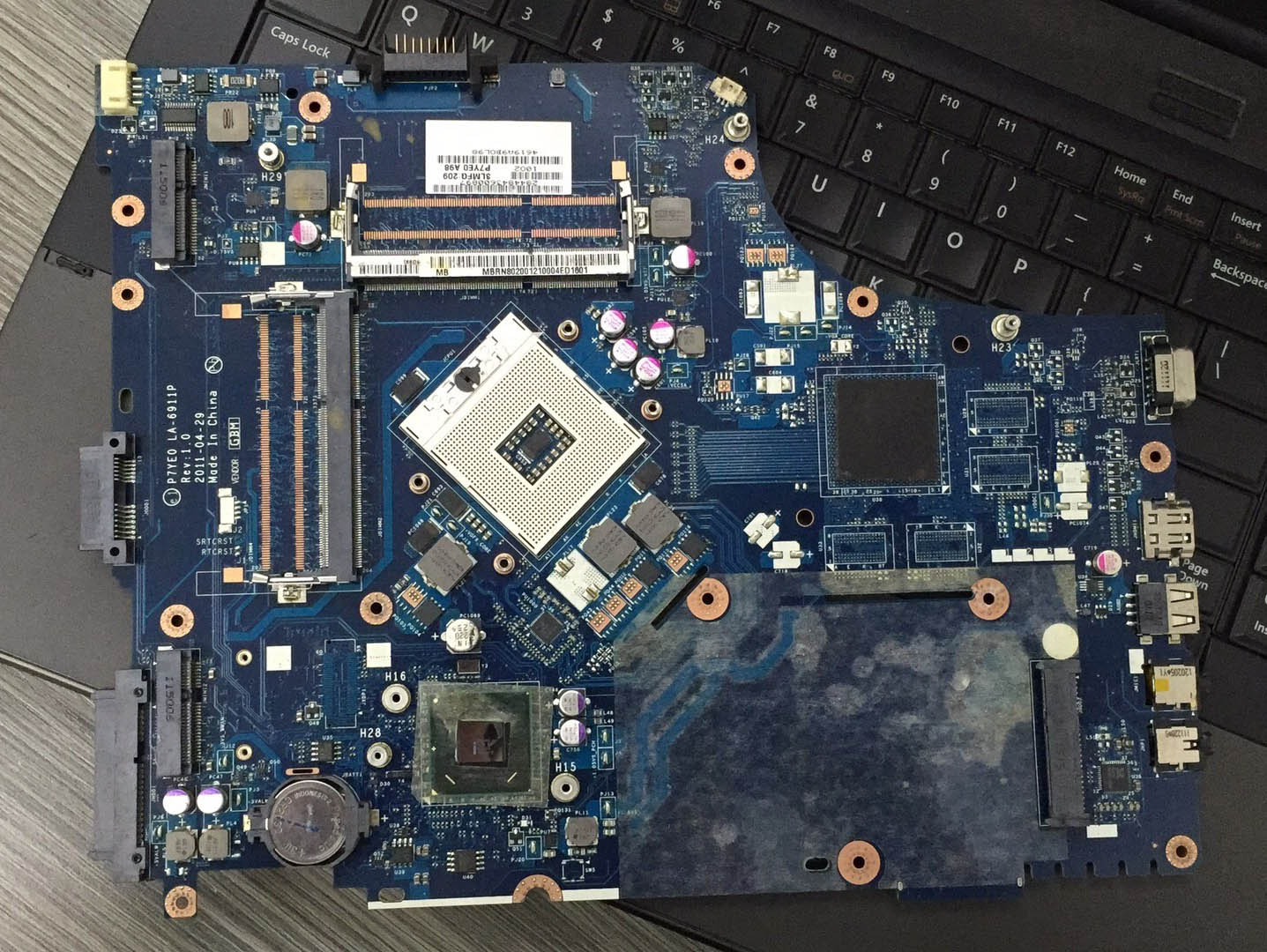 for <font><b>acer</b></font> Aspire <font><b>7750</b></font> AS7750 7750Z 7750G laptop <font><b>motherboard</b></font> notebook pc mainboard main board HM65 P7YE0 LA-6911P rev 1.0 test ok image