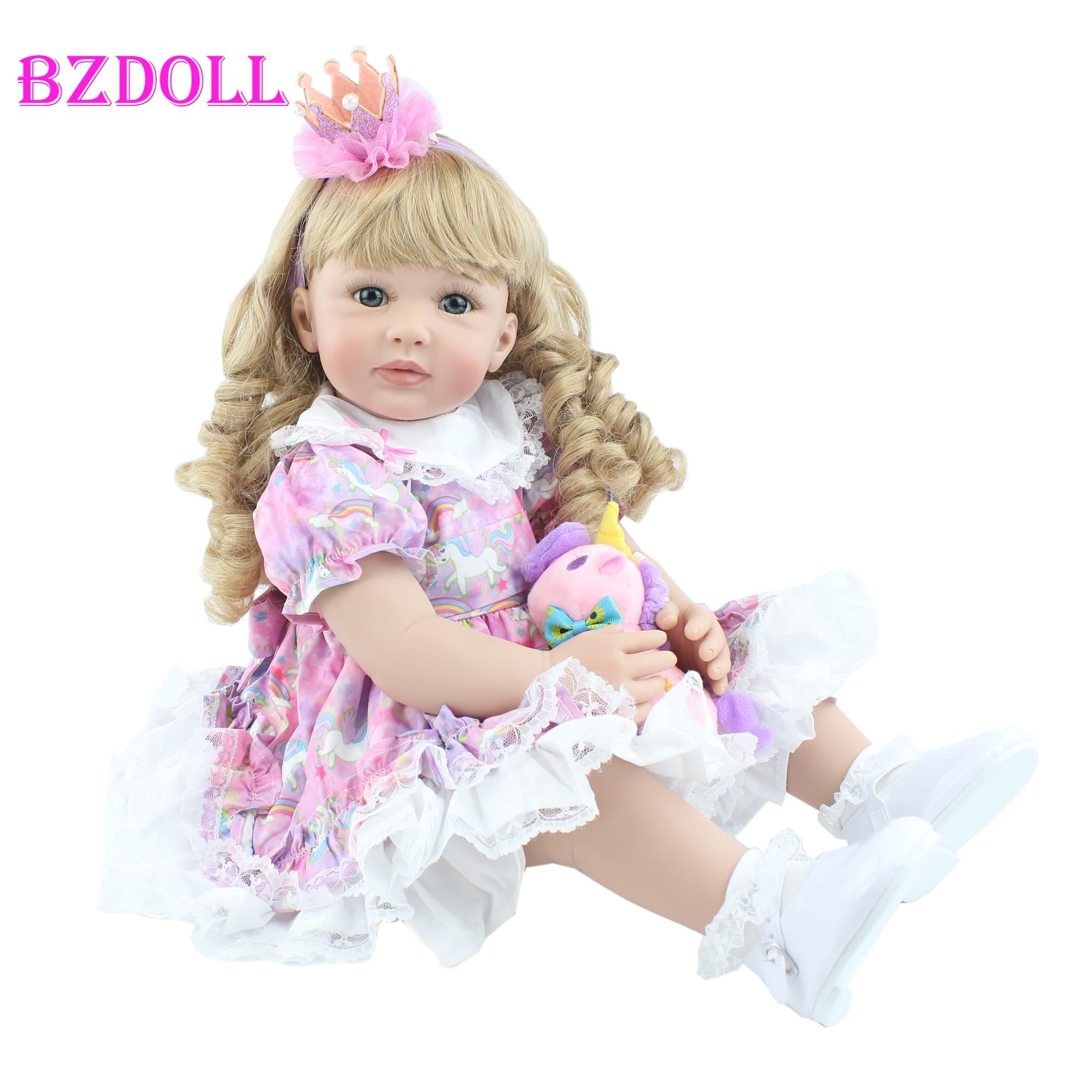 BZDOLL 60 см, мягкая силиконовая кукла для новорожденных, игрушка для малышей, Реалистичная Viny 24