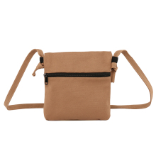 Simple Canvas Bag Hot New Small Square Solid Color Fashion Shoulder Womens Reusable Messenger Daily Travel