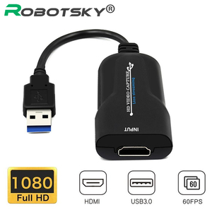 USB 3.0 HDMI Video Capture Card 1080P 60FPS HDMI Video Grabber Record Box For Live Broadcasts Video Recording TV Tuner Cards