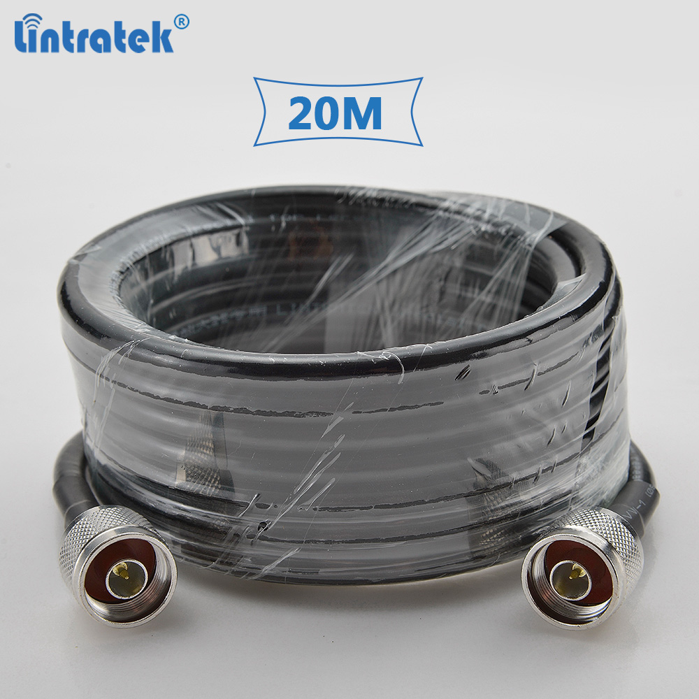 Lintratek 20 Meters 5D Coaxial Cable High Quality With N-male Connectors For Cellphone Signal Repeater And Antenna #6.5