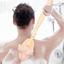 Wooden Long Handle Body Brush Massager Bath Shower Natural  Bristle Bath Brush Woman Man SPA Skin Care Body Cleaning Tool soft fur body back brush cleaning detachable long handle bath brush shower cleaner wooden handle firm exfoliating bath brush