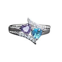 цена S925 Sterling Silver 1 Carat Diamond Jewelry Ring for Women Fine Anillo Pure Sapphire Gemstone Silver 925 Jewelry Bizuteria Ring онлайн в 2017 году