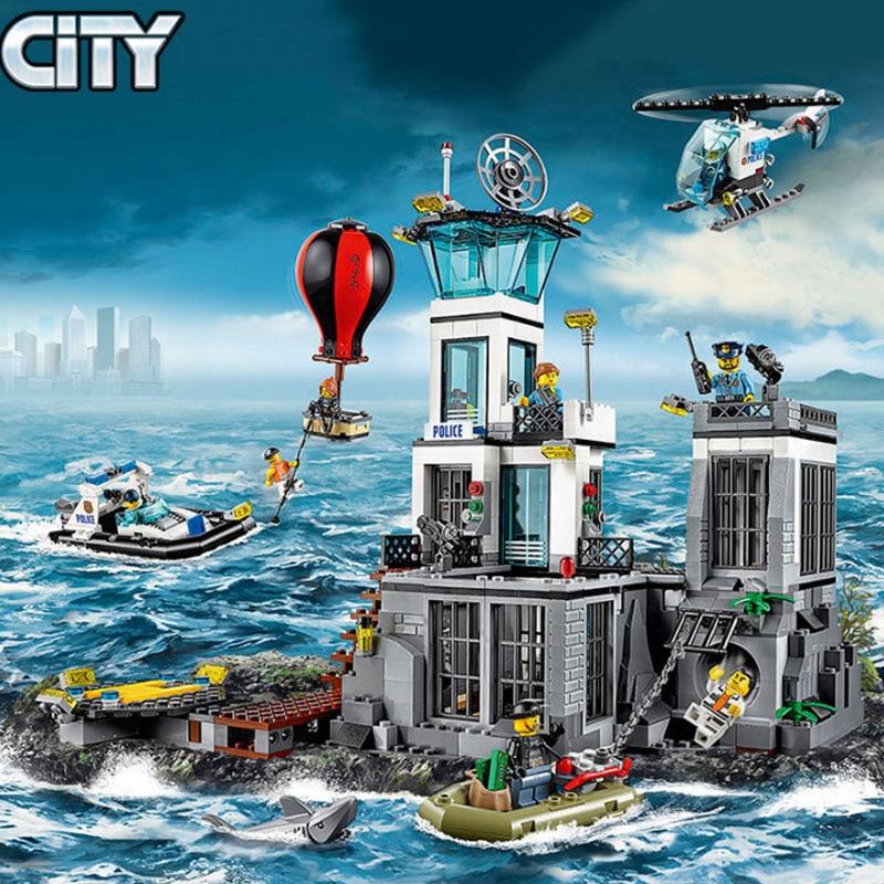 Новый город полицейский участок конструкторных блоков, Детские кубики детские игрушки и хобби Рождественские подарки 60130