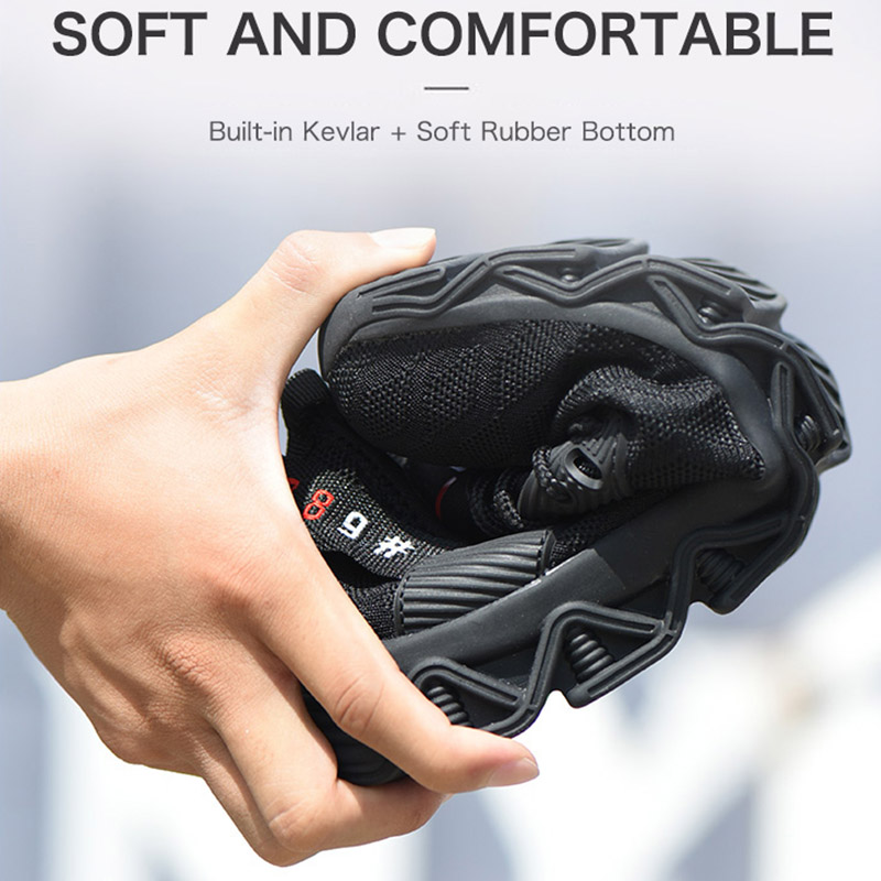 Image 5 - JACKSHIBO/Новый дизайн; Безопасная рабочая обувь; ботинки для мужчин; нескользящие ботинки со стальным носком; Мужская Строительная обувь; защитные ботинки; кроссовкиЗащитная обувь   -