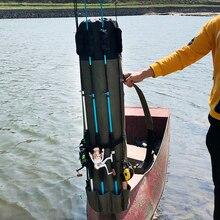 Bolsa de Pesca plegable para caña de pescar, bolsa de almacenamiento para aparejos de Pesca, funda de transporte de viaje