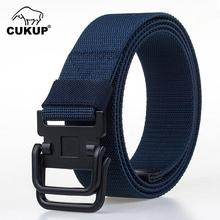 CUKUP 2019 New Unisex Design Double Ring Buckle Elastic Braided Belt Quality Nylon Waistband Casual Belts Accessories CBCK146