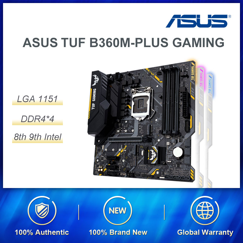 ASUS B360M-PLUS GAMING <font><b>Intel</b></font> LGA <font><b>1151</b></font> Desktop <font><b>Motherboard</b></font> For 8th and 9th Generation Core Processor Maximum Support 32G DDR4 RAM image