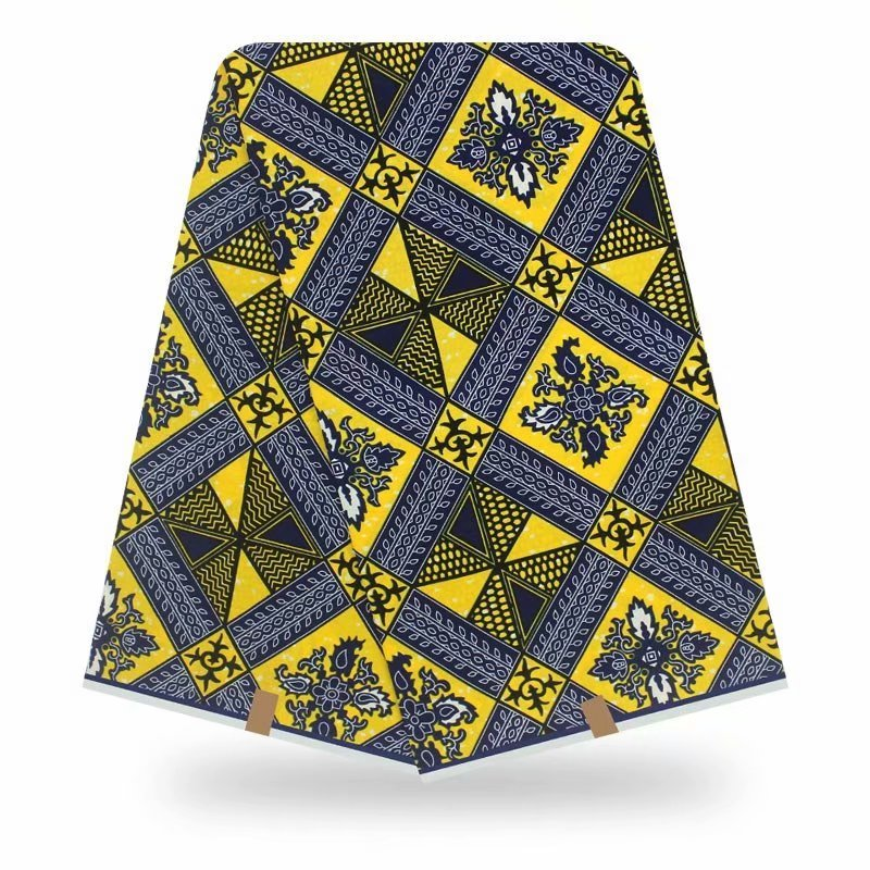 African Ankara Real Wax High Quality Pagne Ducth Dutch  6yards African Ankara Sewing Fabric