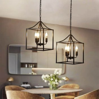 3 Heads E12 Pendant Light Industrial Retro Iron Pendant Lamp Hallway Bedroom Home Bar Fixture Decoration Indoor Lighting 85-240V 1