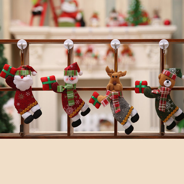 New Year 2020 Cute Santa Claus/Snowman/Angel Christmas Dolls Noel Christmas Tree Decoration for Home Xmas Navidad 2019 Kids Gift 27