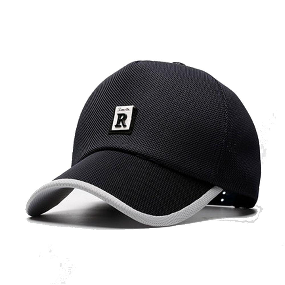 Summer Hat Outdoor Breathable Mesh Sports Men's Baseball Cap Snapback Breathable Mesh Sunscreen Sun Hat Solid Cap Male