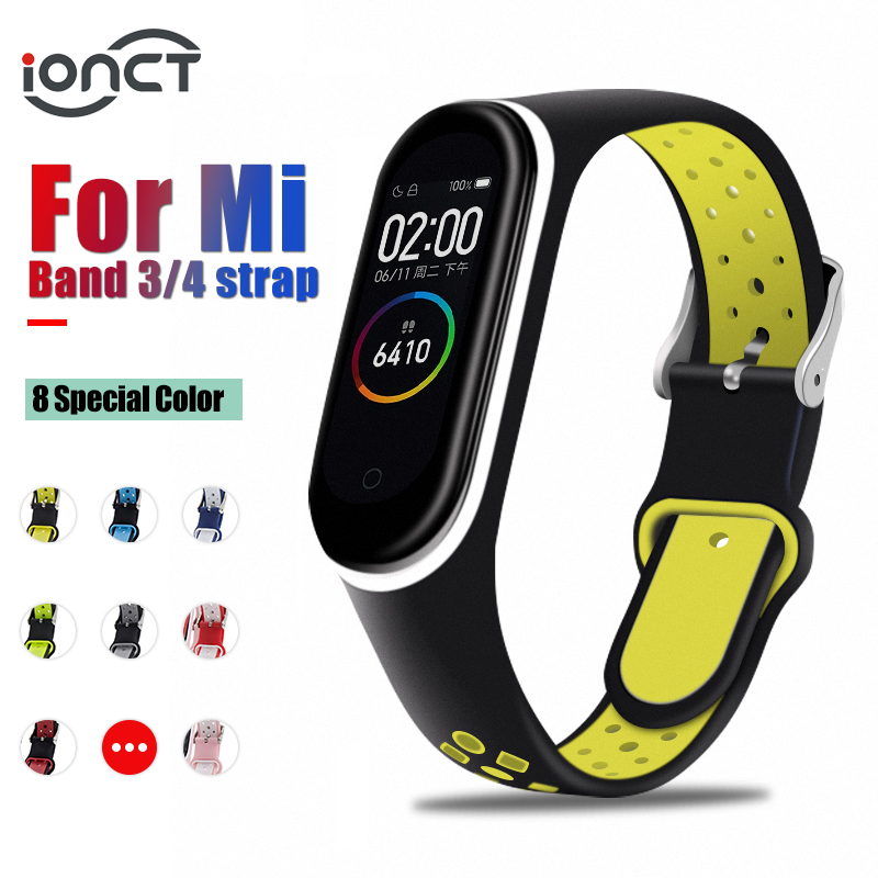 IONCT Soft Silicone Strap For Xiaomi Mi Band 4 Strap Watch Wrist Bracelet Sport Correa Mi Band 3 Strap Miband Smart Accessories