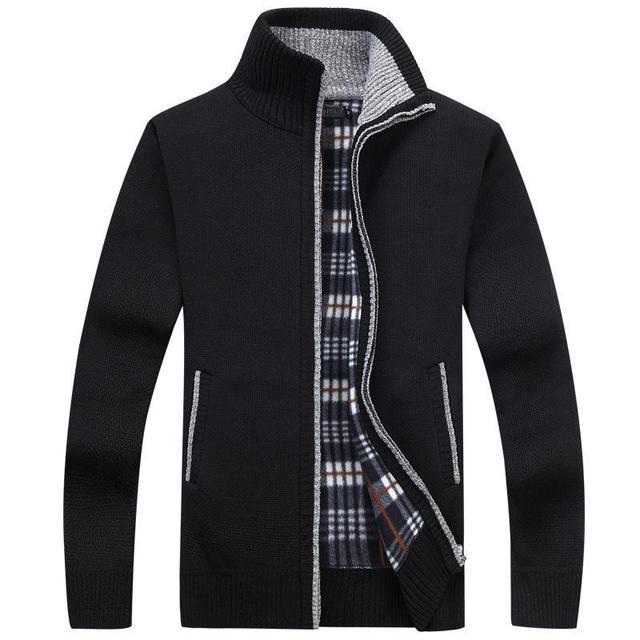 2020 jesień sweter męski Casual długie rękawy pogrubienie Plus rozmiar aksamitna ciepła koszula Trend sweter kurtka płaszcz drop ship