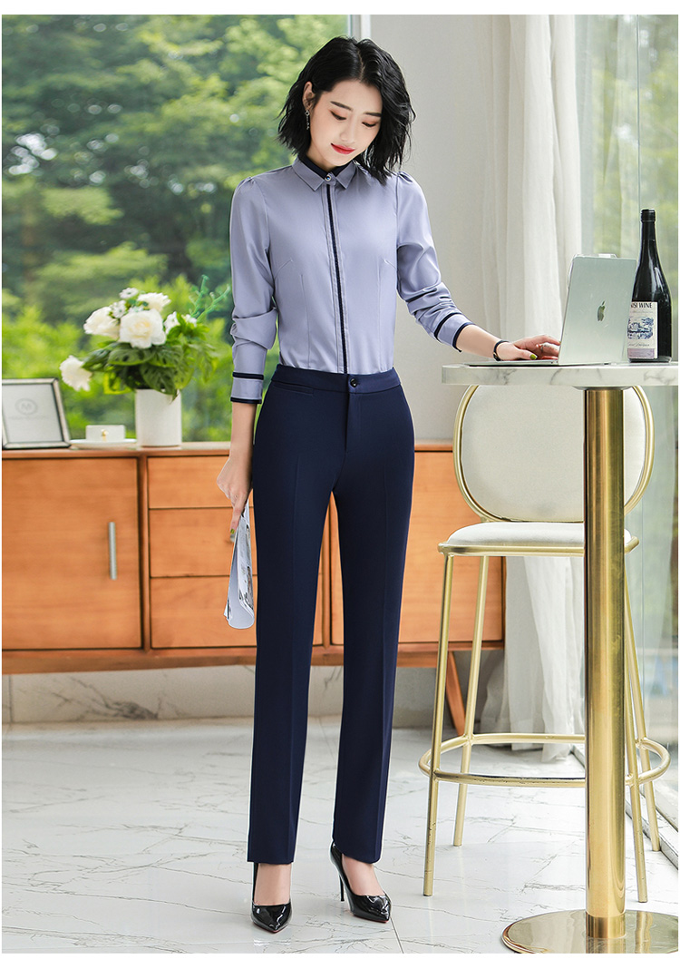 Heec121a261664c86bea9251cd13c5c60O - Autumn Business Casual Long Trousers Women Solid Black Blue Red Formal Pants Office Ladies Work Wear Straight Suit Pant 4XL