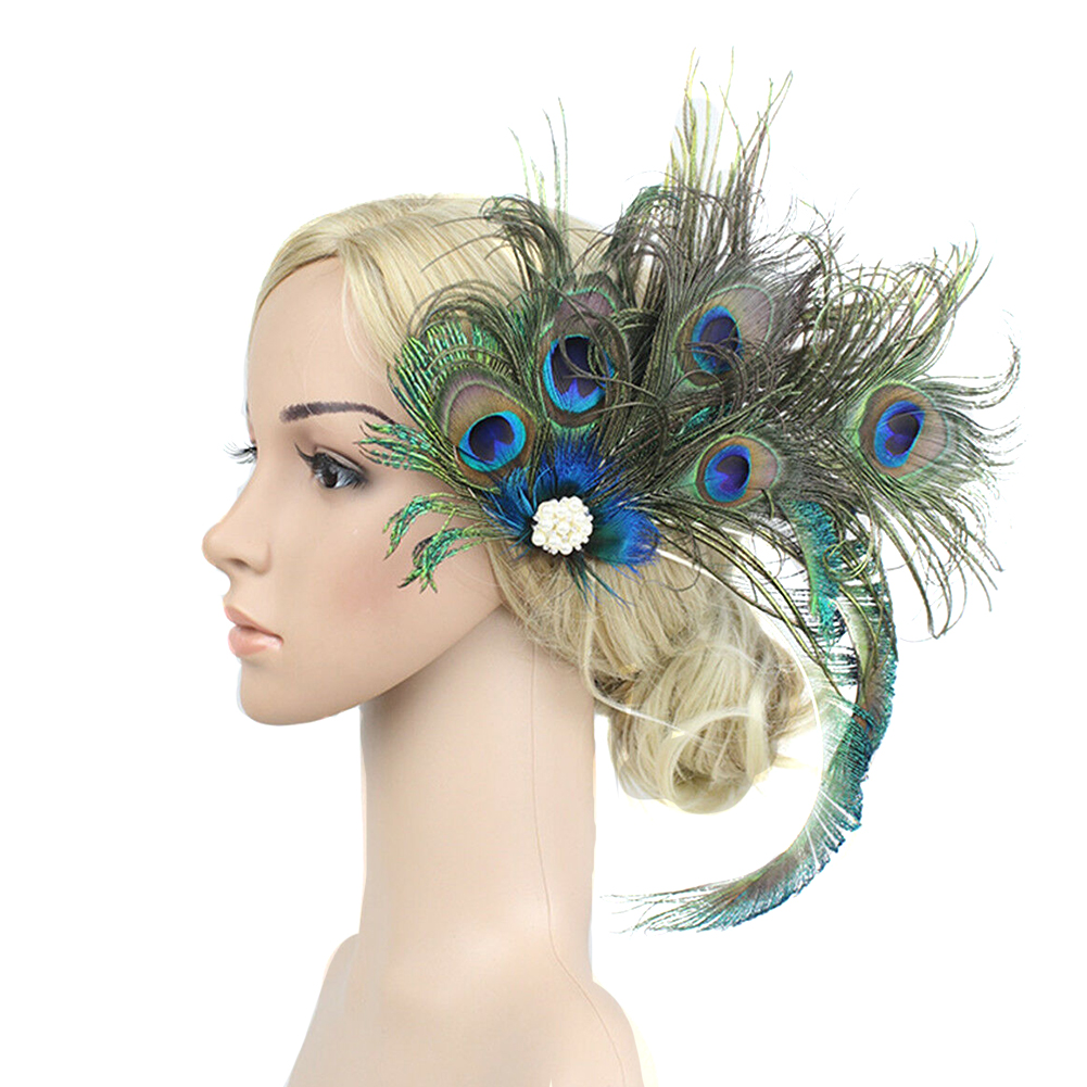 Banquet Hair Clip Women Decoration Durable Gift Artificial Feather Bridal Party Fashion Wedding Accessories Vintage Peacock