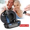 1 paar USB Aufladbare Mini In Ohr Tragbare Invisible Hörgeräte Assistent Einstellbare Ton Ton Verstärker Für Gehörlose Ältere