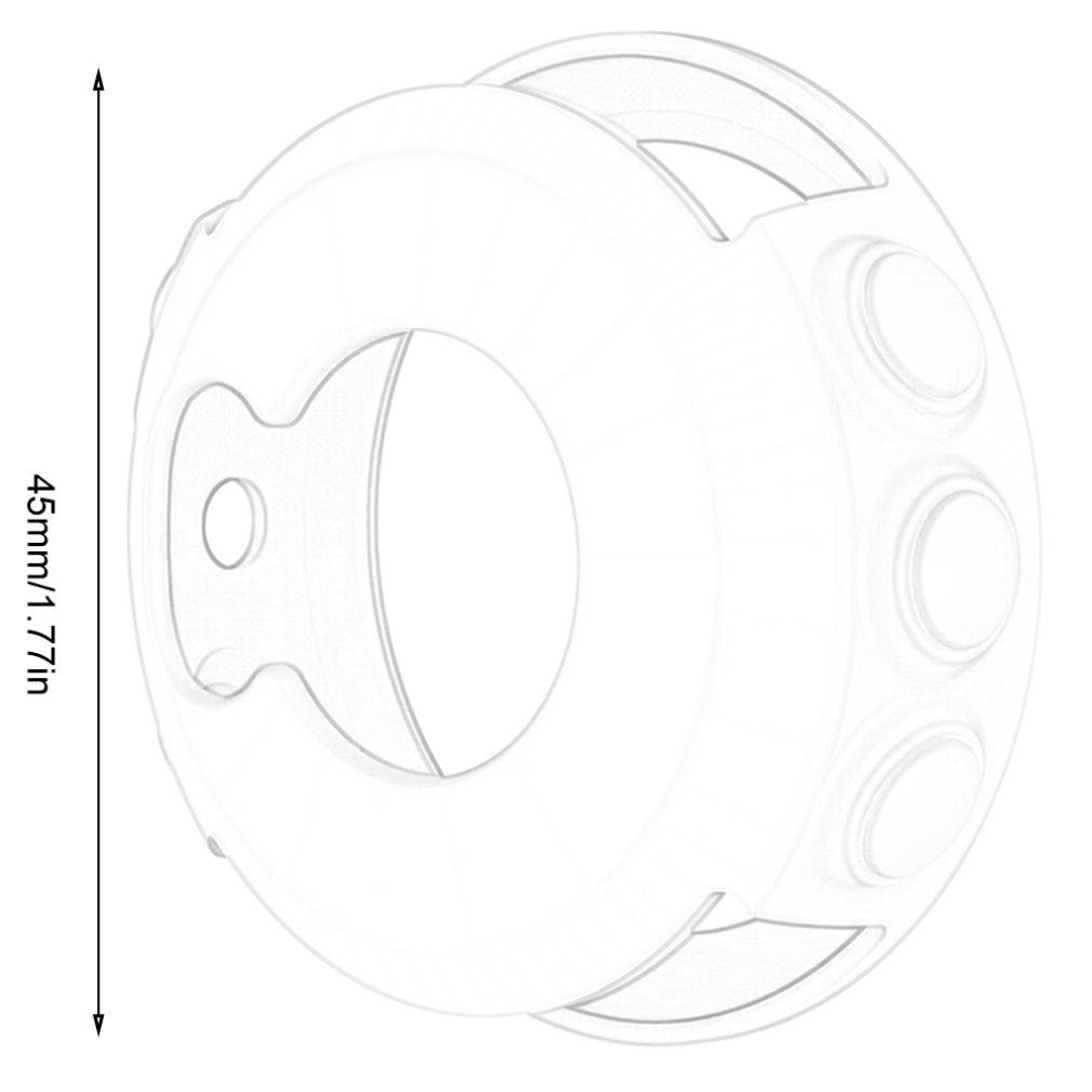 Купить с кэшбэком Silicone Protective Case Cover For Garmin fenix 5/5S/5X Wristband Bracelet Protector Shell for Garmin Fenix 5x 5s 5 Smart Watch