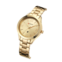 CURREN Reloj Mujer Simplicity Modern Quartz Women Watch Fashion Wristwatches Calendar Stainless Steel Waterproof Para Dama