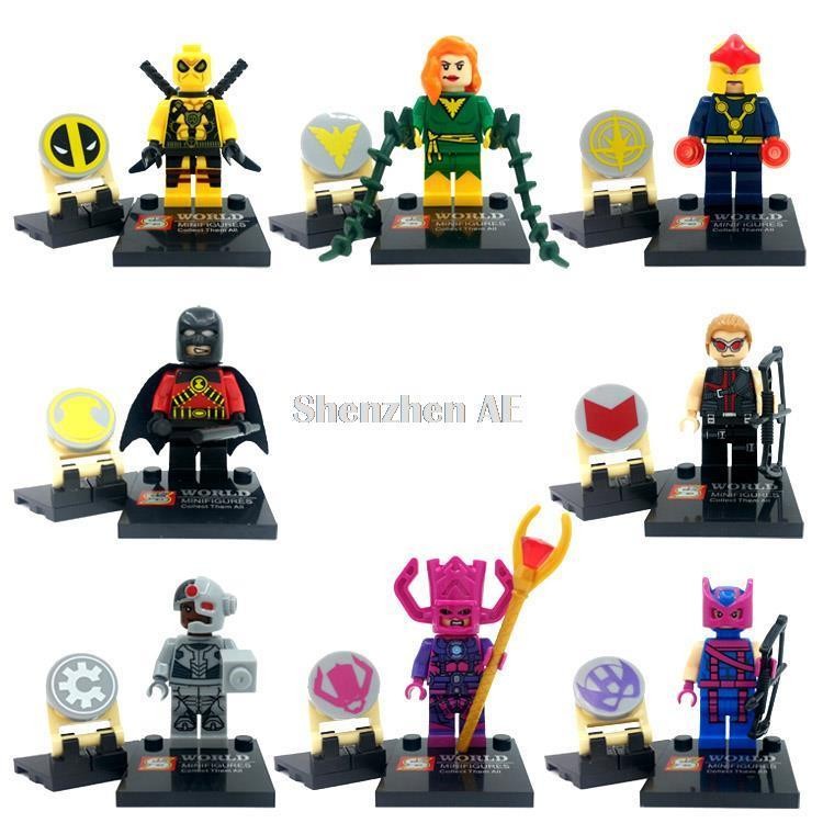 Single Sale Super Hero Figure Set SY258 Deadpool Galactus Jean Grey Hawkeye Building Block Sets Model Bricks Toys Legoing