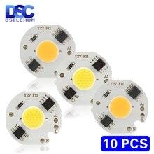 10pcs/lot 3W 5W 7W 9W LED COB Chip 220V Smart IC No Need Driver LED Bulb Lamp for Flood Light Spotlight Downlight Diy Lighting