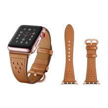 Luxurious Genuine Cow Leather Watch Accessories for Apple Wa