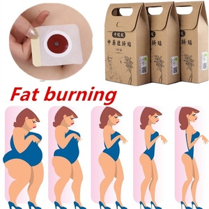 10pcs Chinese Medicine Weight Loss Navel Sticker Magnetic Slim Detox Adhesive Sheet Fat Burning Slimming Diet Patch Pads