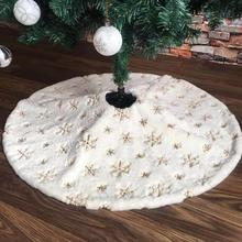 Christmas Tree Skirt Embroidered  36/48 Inch Dress Decora Festival Party Supplie