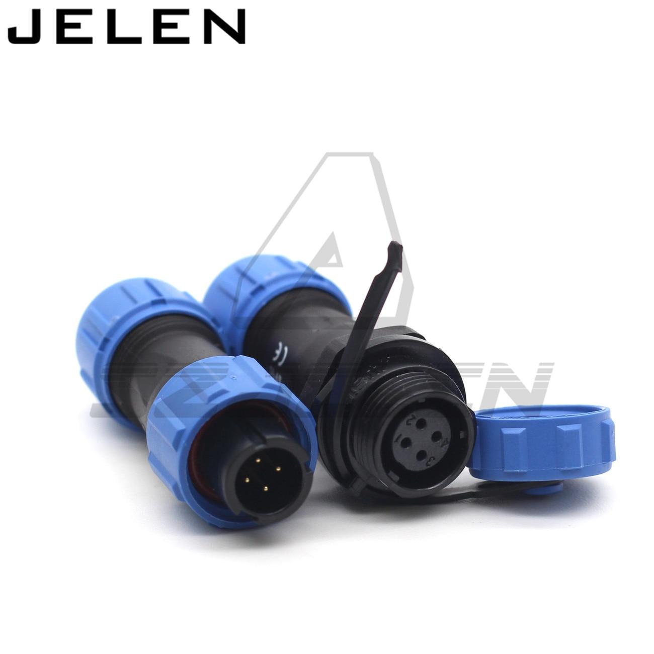 SP11series IP68 4pin conector impermeable macho y hembra cable de acoplamiento conector de cable enchufe