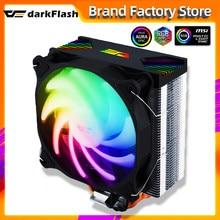 Chłodnica procesora Darkflash aura sync ARGB Lights 4 Heatpipes 120mm cichy wentylator PWM RGB Radiator chłodzenie procesora LGA 1155/AM4 AMD