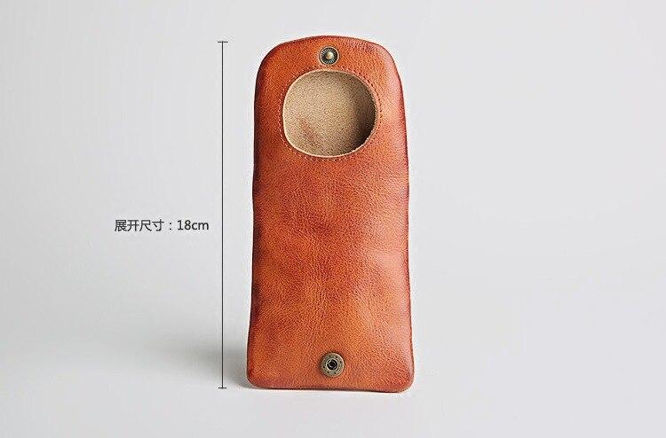 Skeleton-skin Retro Small Wallet Japanese Korean MEN'S Wallet Men's Large Capacity Purse Genuine Leather Coin Bag Youth Women's
