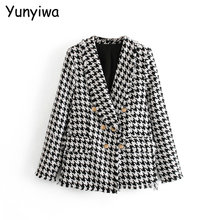 Women Thick Tweed Coats Jacket Long sleeves button pocket 2019 Ladies Elegant Au
