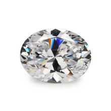 Size 2X3mm ~13x18mm 5A Oval Shape AAAAA White CZ Loose Syntheitc Cubic Zirconia Gems