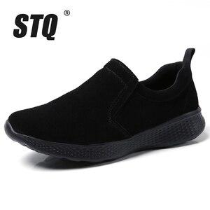 Image 2 - STQ jesień kobiety mieszkania buty damskie Slip on kobieta mokasyny oksfordzie buty do chodzenia Tenis Feminino mieszkania Sneakers buty 0731