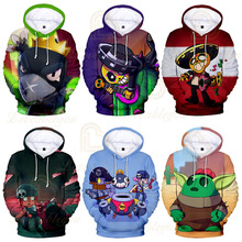 2019 Kids Hoodies Shooting Game 3d Printed Cosplay Pullover Boys Harajuku Jacket Coat Children Men Clothes Streetwear