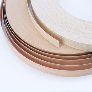 Image 3 - 10M Self adhesive Furniture Wood Veneer Decorative Edge Banding PVC for Furniture Cabinet Office Table Wood Surface Edging