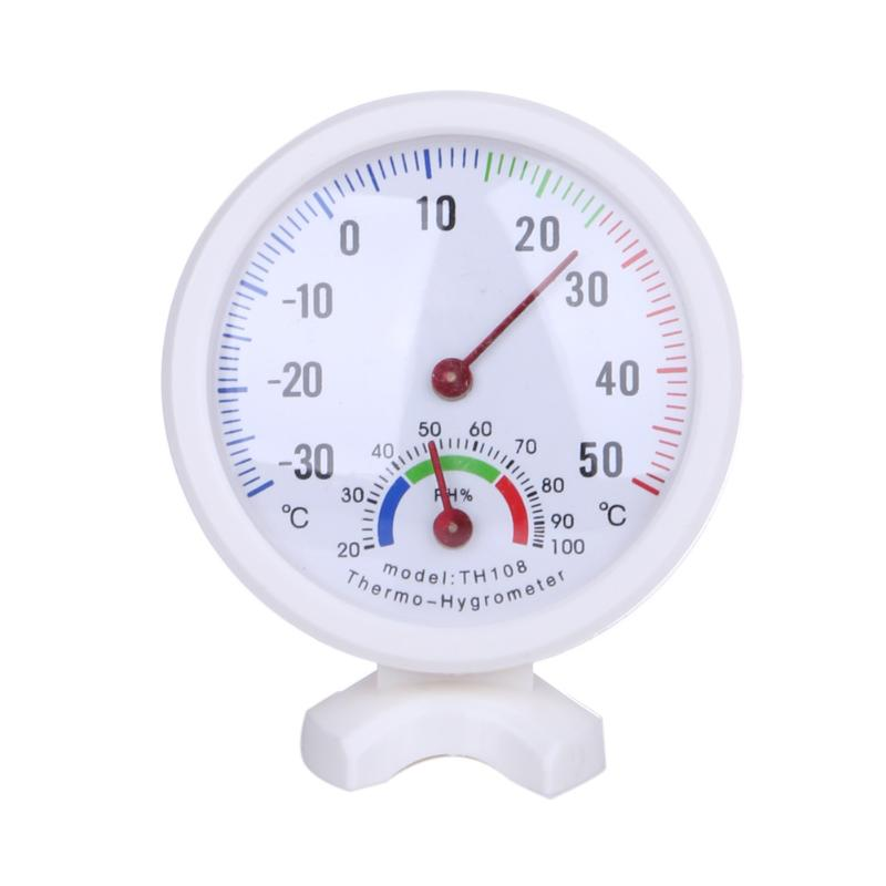 Mini LCD Digital Bell-shaped Scale Thermometer Hygrometer for Home Office Wall Mount Indoor Temperature Measure Tool