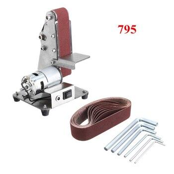 Mini Electric Belt Machine Sander Belts Grinding Abrasive DIY Polishing Cutter Edges Workshop Equipment Power Tools