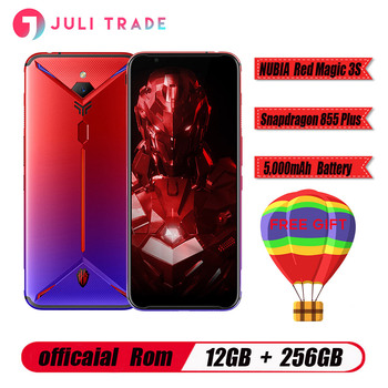 "Nubia Red Magic 3S Smartphone 12GB RAM 256GB ROM Snapdragon 855 Plus 6.65"" AMOLED 48.0MP + 16.0MP 5000mAh Fast charge Game phone"