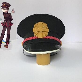 Jibaku Shounen Hanako-kun Hanako Kun קוספליי כובע אסלה חייב חיל הים סגנון Hanako Kun כובע אבזרי תחפושת