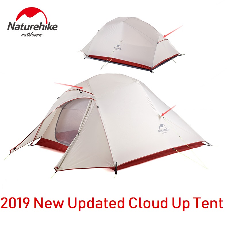 Naturehike Upgraded Cloud Up Series 1 2 3 Person Ultralight Camping Tent Outdoor Camp Equipment Nature Hike New Version