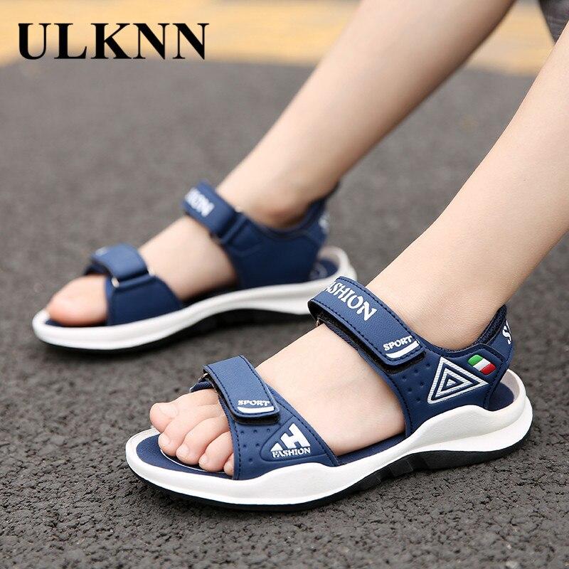 ULKNN CHILDREN'S SANDALS 6 BOY'S Sandals 7 Korean-style 8 Big Boy 9 BABY 10 Kids 12-Year-Old 15 CHILDREN'S Beach Shoes
