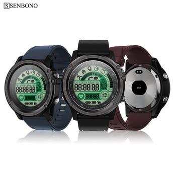SENBONO S28 Sport tracker Stopwatch IP68 Waterproof Smart Watch Compass Remote Control Call SMS Reminder Heart Rate Smartwatch 1