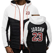 2020 primavera outono dos homens jordan 23 hoodies para impressão com capuz jaqueta com zíper moda quente velo acolchoado casacos populares