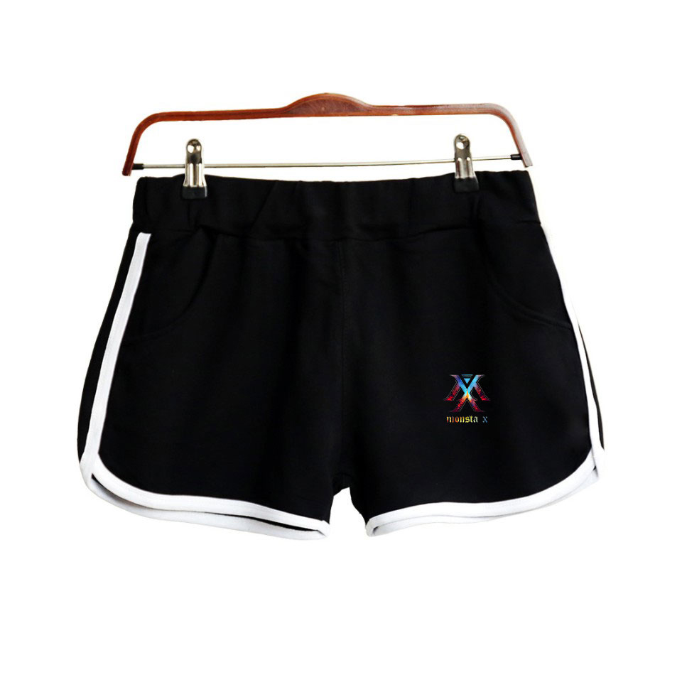 2019 Kpop MONSTA X NEW Album 'FOLLOW':FIND YOU Team 2D Print Fans Women Shorts Harajuku Ladies Hot Sale Sexy Kawaii Shorts