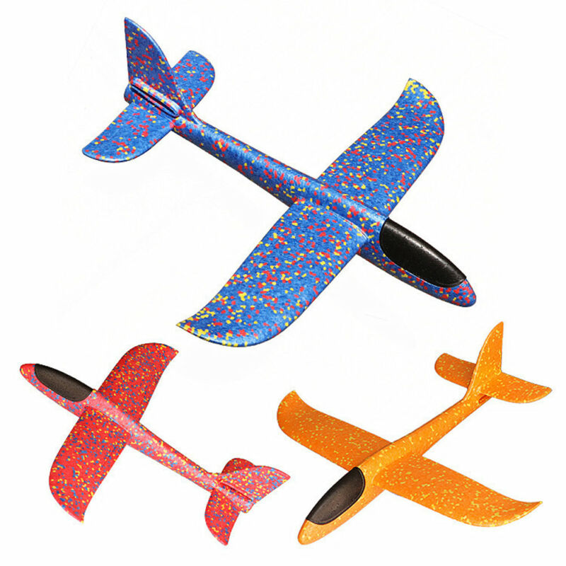 Hand Throw DIY Flying Glider Planes Toys for Children Party Gift Foam Aeroplane Model Toys Flying Gliders Plane Toy Game