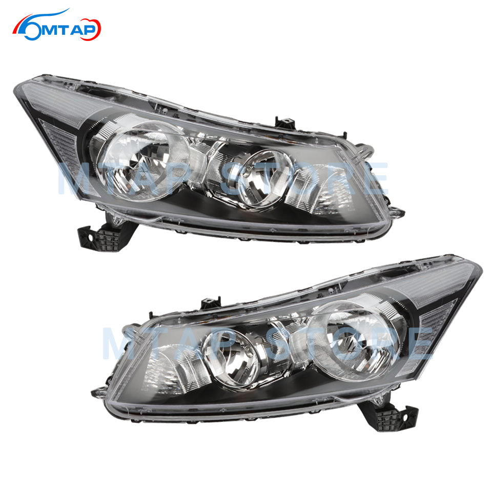 MTAP Front Bumper Head Light Lamp Halogen HID For Honda For Accord CP 2008 2009 2010 2011 2012 2013 Headlamp Headlight Assy