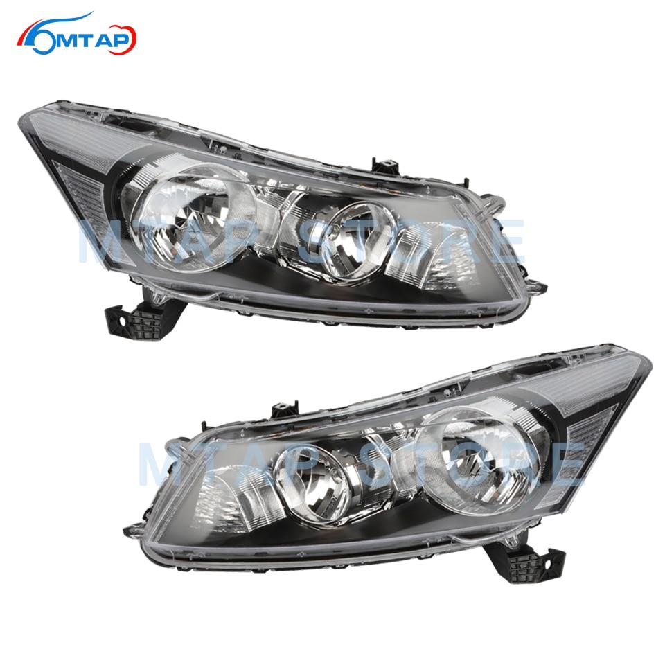 MTAP Front Bumper Head Light Lamp Halogen HID For Honda For Accord CP 2008 2009 2010 2011 2012 2013 Headlamp Headlight Assy