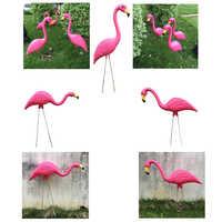 3 tipi di Colore Rosa di Plastica Flamingo Cortile Giardino Prato Balcone Arredamento Realistico Animale Ornamenti