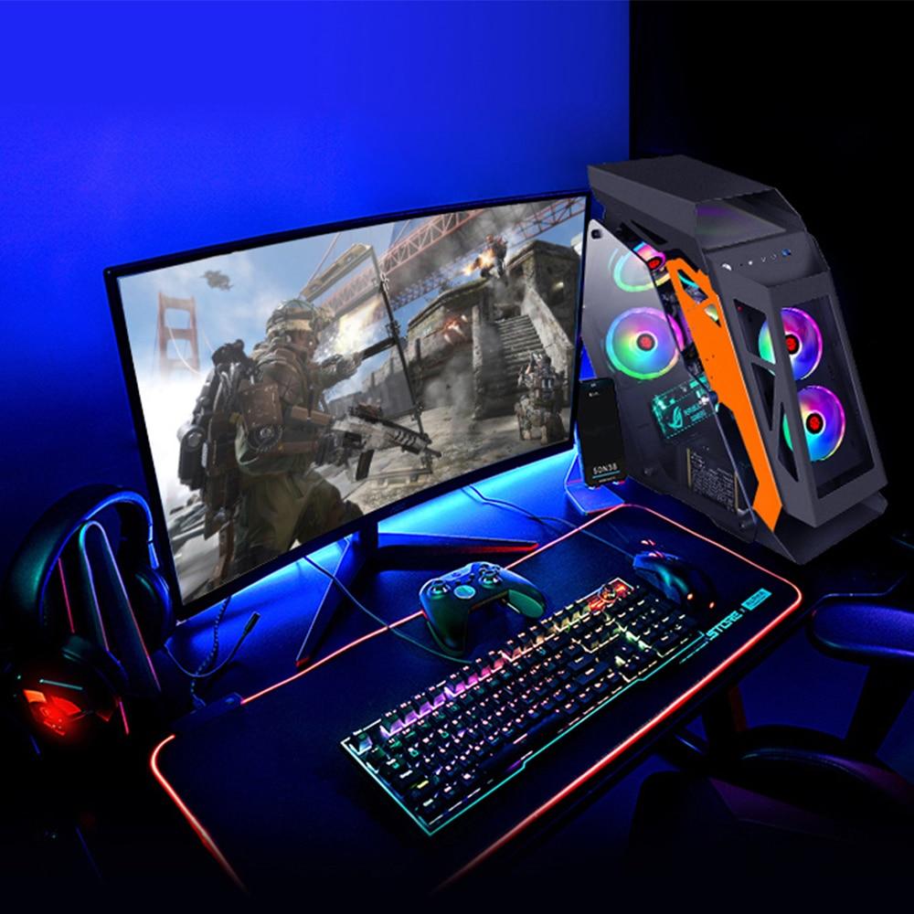 MATX Mini ITX Motherboard Computer Gamer Case DIY Side Transparent Open Mini Mute Desktop Case Gaming Tower 1